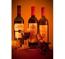 Fruit of the Vine and Stilton Cheese: mmmmmmm Photographic Print