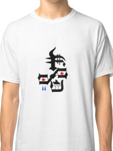 Abstract face red eyes two blue tears Classic T-Shirt