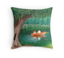 Dedham To Flatford Throw Pillow
