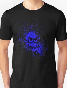 Splatoon Black Squid on Blue Splatter Mask T-Shirt