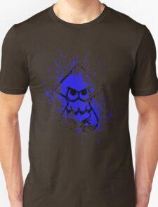 Splatoon Black Squid on Blue Splatter Mask Unisex T-Shirt