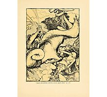 The Land of Enchantment by Arthur Rackham 0123 Sigurd Pierced Him With His Sword Photographic Print