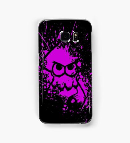 Splatoon Black Squid on Purple Splatter Mask Samsung Galaxy Case/Skin