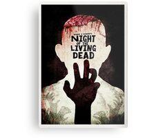 Night of the Living Dead - Minimal Poster Design Metal Print