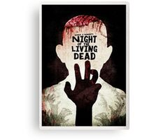 Night of the Living Dead - Minimal Poster Design Canvas Print