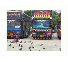 VIP buses Art Print