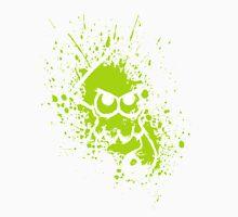 Splatoon White Squid on Green Splatter Mask Unisex T-Shirt