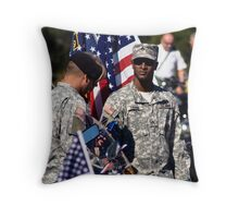 Soldiers Throw Pillow
