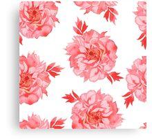 - Seamless peony pattern - Canvas Print