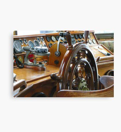 Tall Ship Peacemaker - Wheelhouse Canvas Print
