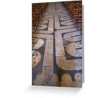 Chartres cathedral labyrinth Greeting Card