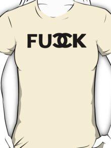 FU_K - chanel logo parody T-Shirt