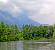 River, hills and trees by Jaime Pharr