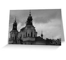 Prague Square Greeting Card