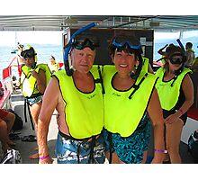 Bob and Sue Snorkeling Photographic Print