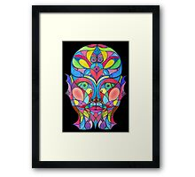 Stained Glass Mirror Framed Print