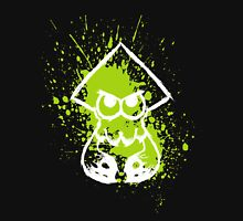 Splatoon White Squid on Green Splatter Unisex T-Shirt