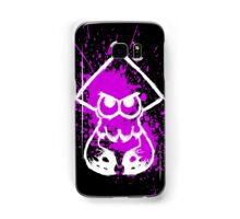 Splatoon White Squid on Purple Splatter Samsung Galaxy Case/Skin