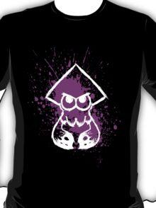 Splatoon White Squid on Purple Splatter T-Shirt