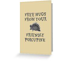 Porcupine Hugs Greeting Card