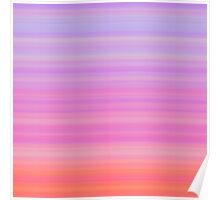 Rose-Pink-Lilac Stripes Poster