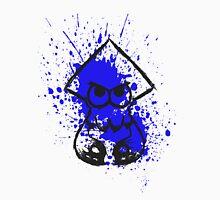Splatoon Black Squid on Blue Splatter Unisex T-Shirt