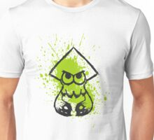 Splatoon Black Squid on Green Splatter Unisex T-Shirt
