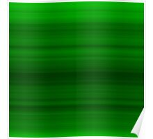 Deep Green Stripes Poster