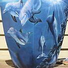 """""""Dolphins"""" Pots by Taniakay"""