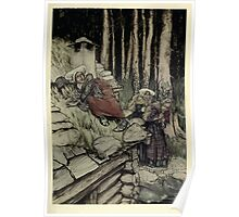 Peer Gynt A Dramatic Poem by Henrik Ibsen art Arthur Rackham 19xx 0041 Aase on the Mill House Roof Poster