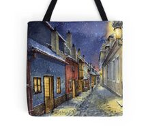 Prague Golden Line Winter Tote Bag