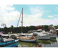 Tuckerton Seaport Docked Cabin Cruisers Photographic Print