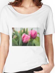 Soft Tulips Women's Relaxed Fit T-Shirt