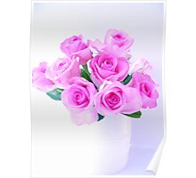 pink roses painting Poster
