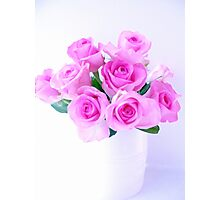 pink roses painting Photographic Print