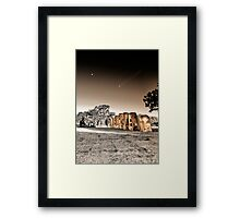 Airstream Ranch, On a Strange Day HDR Framed Print