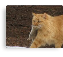 King And His Catch Canvas Print