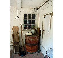 Back Porch With Barrel Photographic Print