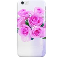 pink roses painting iPhone Case/Skin