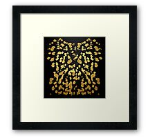 Paint Splatter in Faux Gold and Black Framed Print