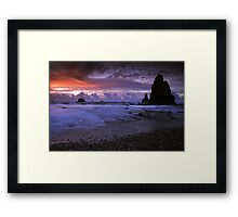 Seal Point, West Coast. Framed Print