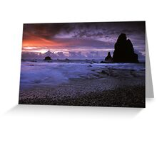 Seal Point, West Coast. Greeting Card