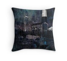 Lighthouse in Montauk Point Throw Pillow