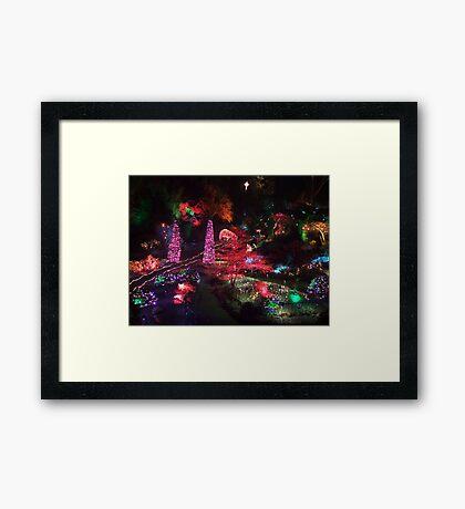 Night in the Sunken Garden(1) Framed Print