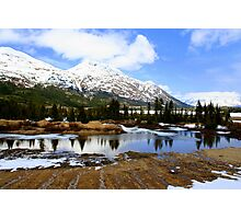 Snow-capped Mountains in Alaska Photographic Print