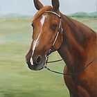 Quarter Horse Portrait by Charlotte Yealey