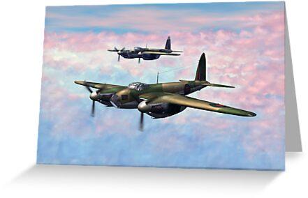 De Havilland Mosquitos by Walter Colvin