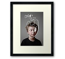 What I see IN My heAD. Framed Print
