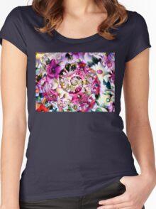 Flower Spiral Women's Fitted Scoop T-Shirt