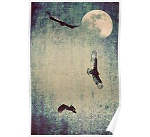 Vultures and the Moon Poster